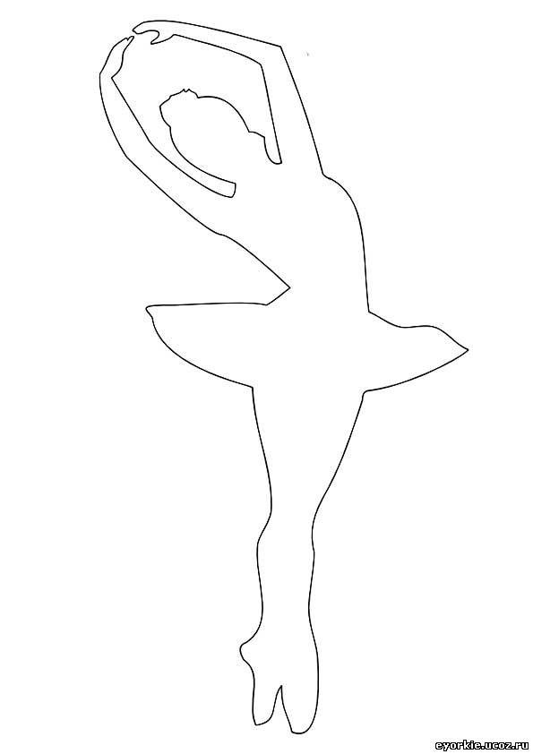 Распечатываем трафареты балерины прямо с моего блога. .  Первый трафарет балерины.  На создание этого украшения уйдёт...